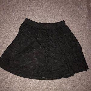 Dresses & Skirts - Black lacy skater skirt